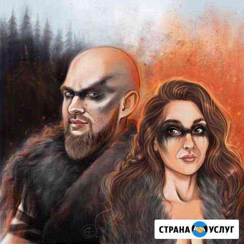 Портреты и шаржи по фото Чебоксары Чебоксары