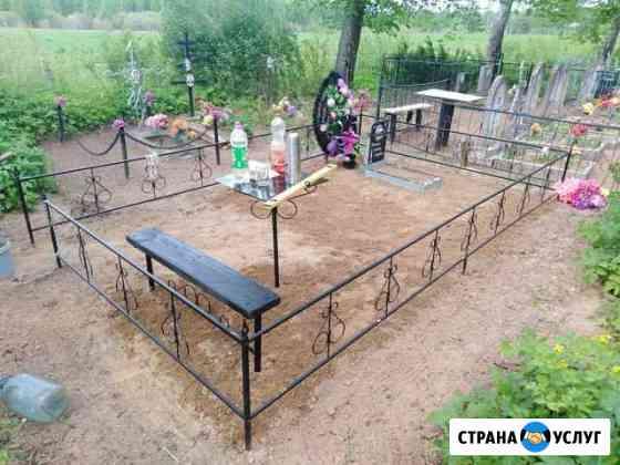 Сварка оградок, скамеек, столиков на кладбище Порхов