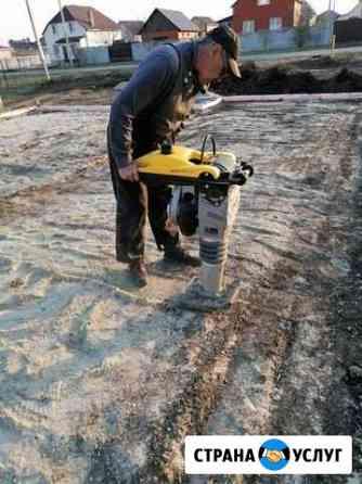 Трамбовка песка Белгород