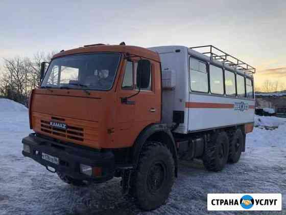 Аренда услуги вахтового автобуса камаз 24 места Анадырь