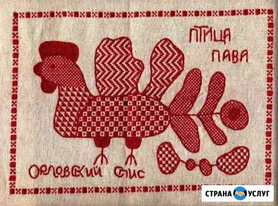 Машинная вышивка любой сложности Орёл