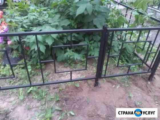 Ограды ритуальные на кладбище на могилу Кимры