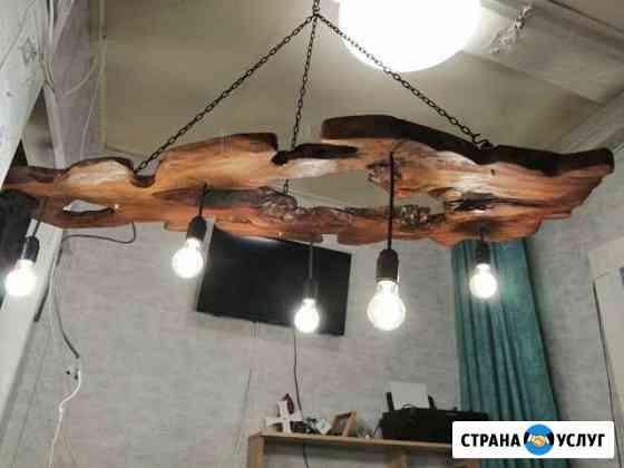 Светильники из дерева Ново-Талицы