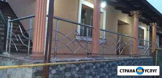 Перила из и поручень из нержавейки сварочные работ Владивосток