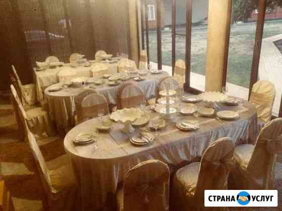 Прокат столы стулья для свадьбы Шали