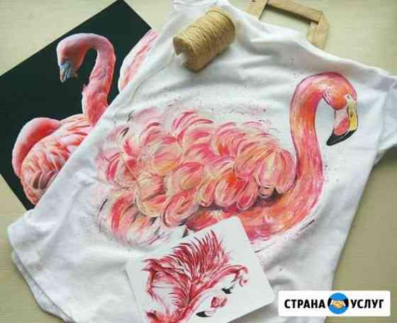 Роспись одежды.рисунки на одежде Мурманск
