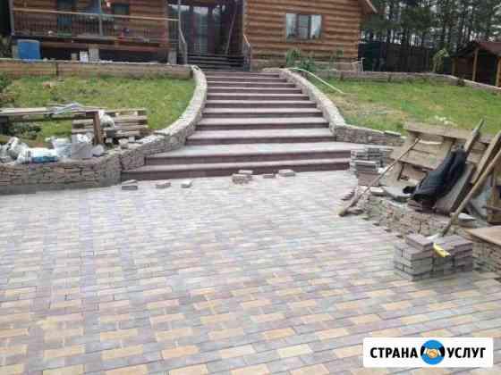 Строительные работы, Укладка тротуарной плитки, ас Улан-Удэ