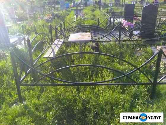 Ограды столы лавки на кладбище Майкоп