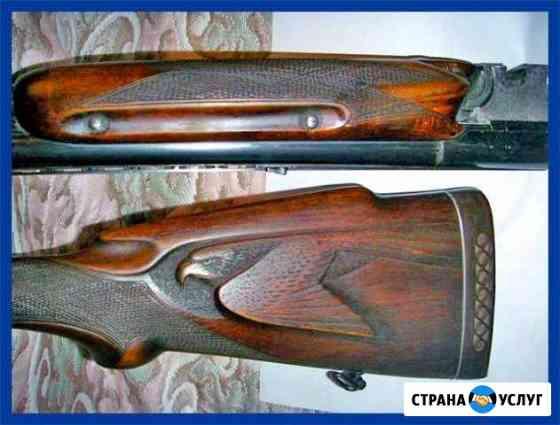 Резьба на прикладах и рукоятках ножей Боровск