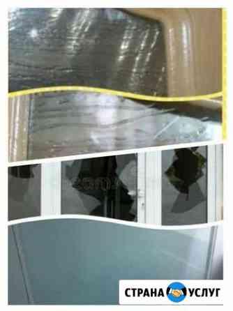 Замена стекол дверей, окон стеклопакета Ижевск