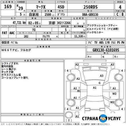 Перевод аукционных листов с японского Владивосток