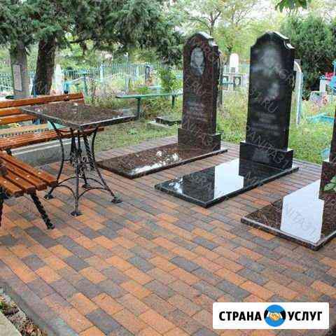 Плитка на кладбище Черкесск