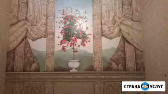 Декорирование,роспись стен и мебели. Беседки Тула