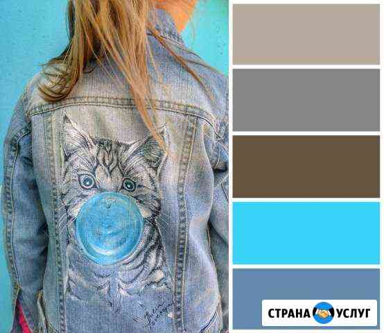 Ручная роспись одежды Орёл