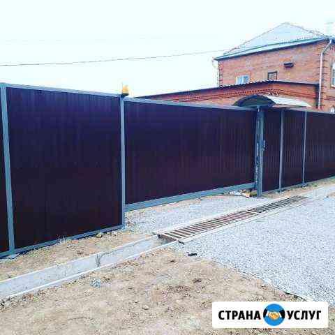 Забор ворота винтовые сваи Хабаровск