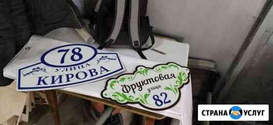 Табличка на дом Котлас