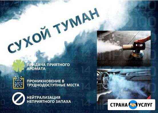 Сухой туман - удаление любых запахов Владивосток