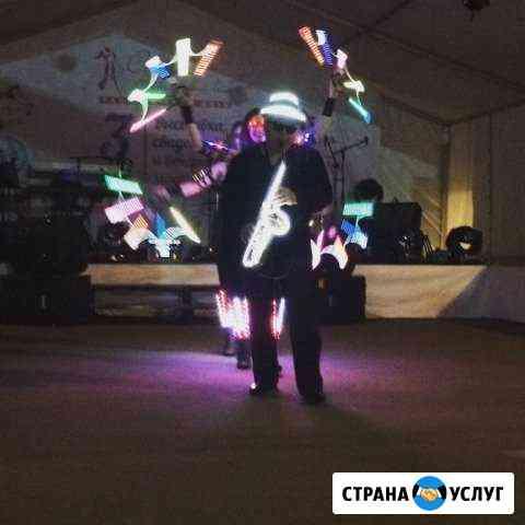 Световое и лазерное шоу Слеза саксофона Владикавказ