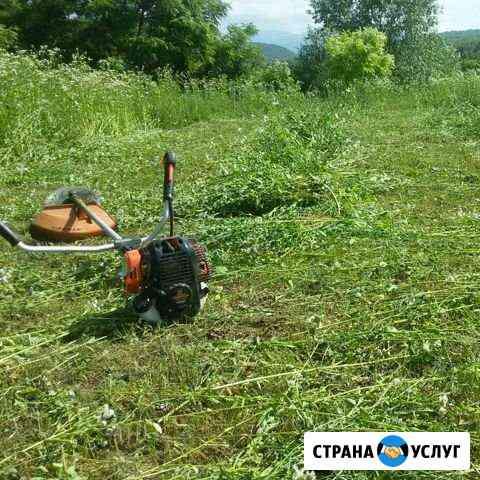 Покос травы в Урус-Мартановском р-не Грозный