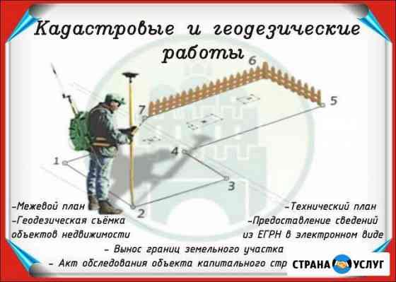 Вынос границ зу,межевание,техплан,акт обследования Саранск