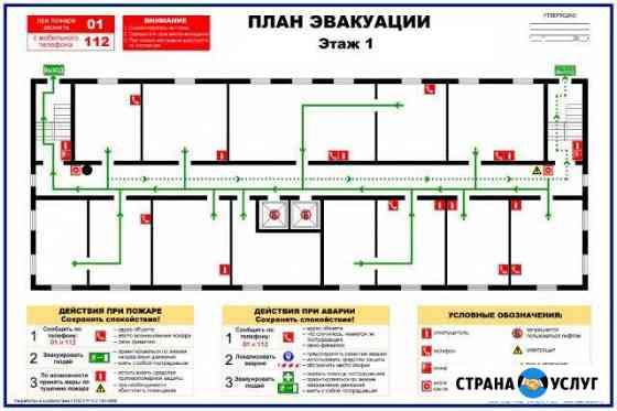 План эвакуации, Расчет категории помещения Новочебоксарск