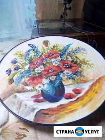 Роспись посуды Палех