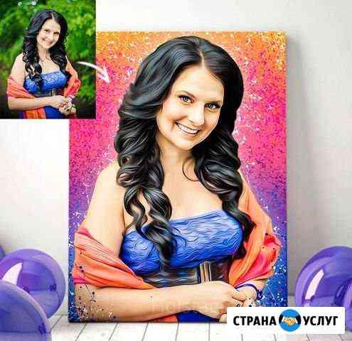 Печать фото на холсте в образе Омск