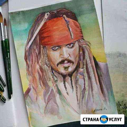 Портрет по фото Грязи