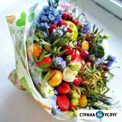 Доставка букетов из ягод, фруктов, мяса, сыра, цве Абакан