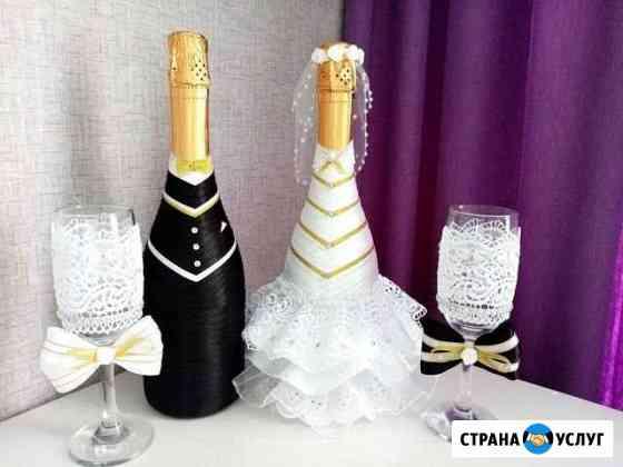 Оформление шампанского, фужеров, мега чупа чупс Томск