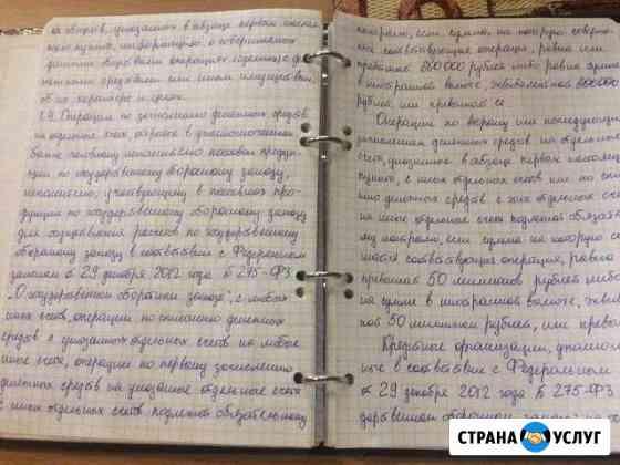 Пишу тексты от руки Саранск