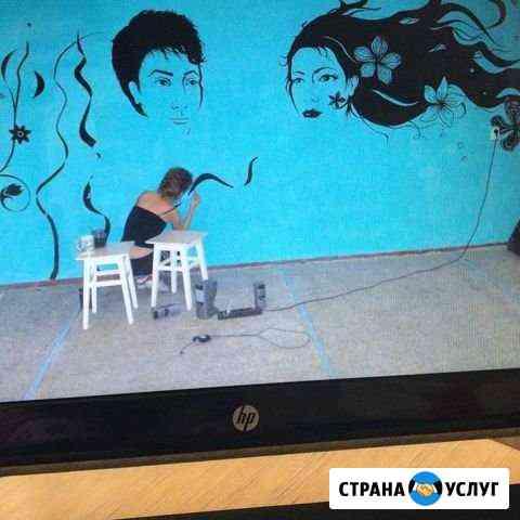 Роспись графическая и живописная стен Тюмень