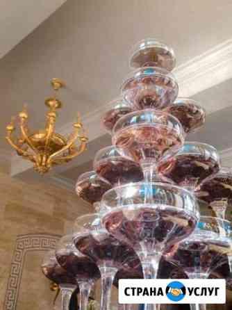 Выездной бар, бармен-шоу, пирамиды из бокалов Владивосток
