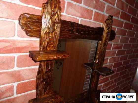 Зеркала в рамке из состаренного дерева Кострома