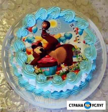Тортики с фотопечатью Ковров