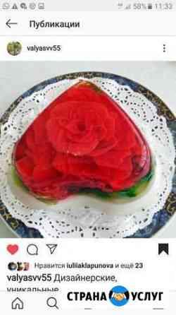Десерты 3D Цветы в желе Омск