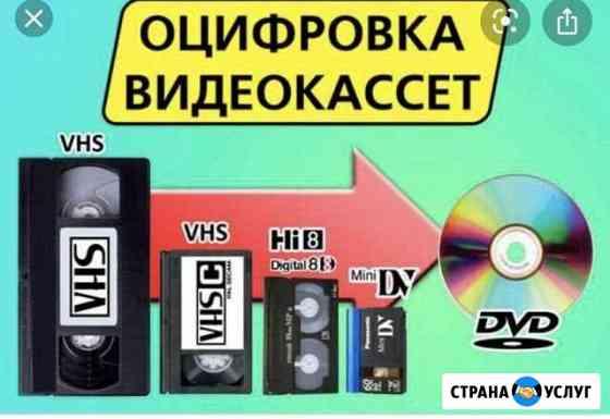 Оцифровка видеокассет Новый Уренгой