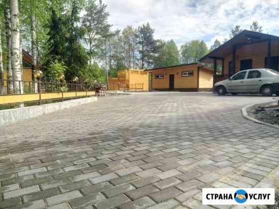 Укладка тротуарной плитки (брусчатки) Архангельск