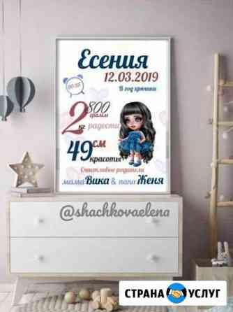 Метрика, календари, постеры Саранск