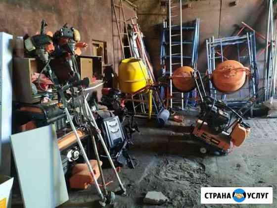 Прокат и ремонт инструмента виброплита и бензобур Курск