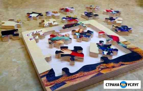 Деревянные фотопазлы-фоторамка Сургут