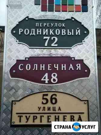 Адресная табличка Рыбинск