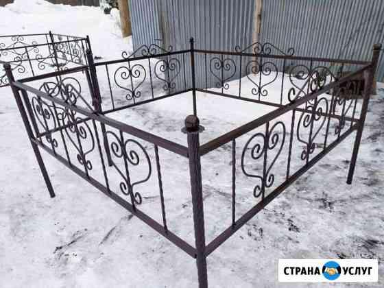 Оградки на кладбище/столы/лавки Каргасок