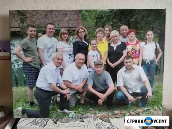 Печать на холсте фотографий Димитровград