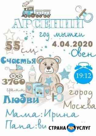 Метрика, подарок на выписку Красноярск