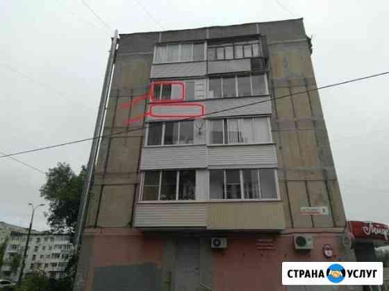 Реклама на оконной раме балкона - 2,5 * 1 м Ижевск
