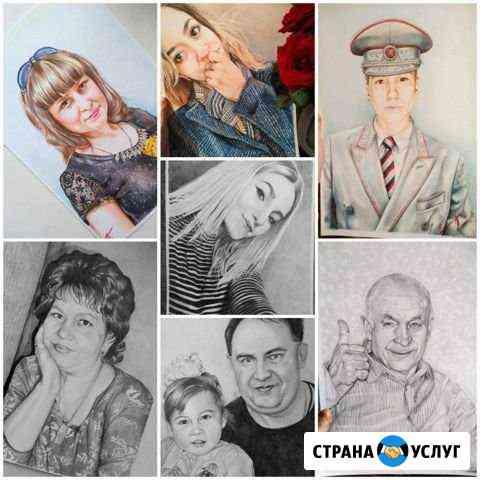 Портрет по фото Ефремов