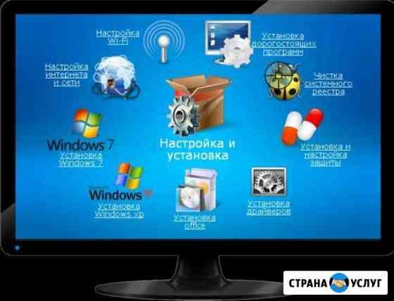 Установка переустановка windows 7,8,10,2-4часа Сыктывкар
