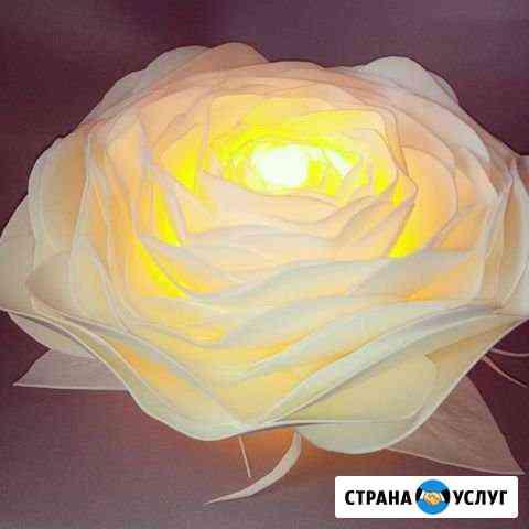 Цветы-светильники ручной работы Йошкар-Ола
