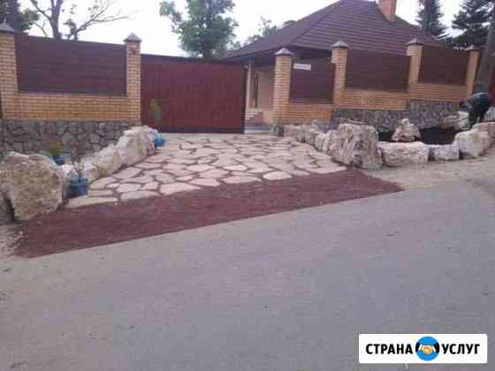 Укладка плитняка. Свой камень Владивосток